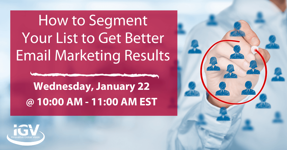 email Marketing segement webinar