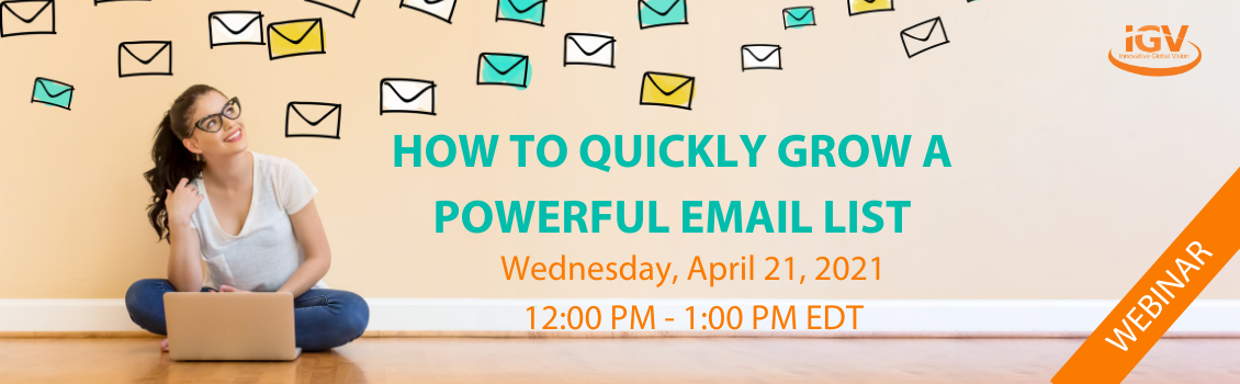 30 Ways to Grow your Email List