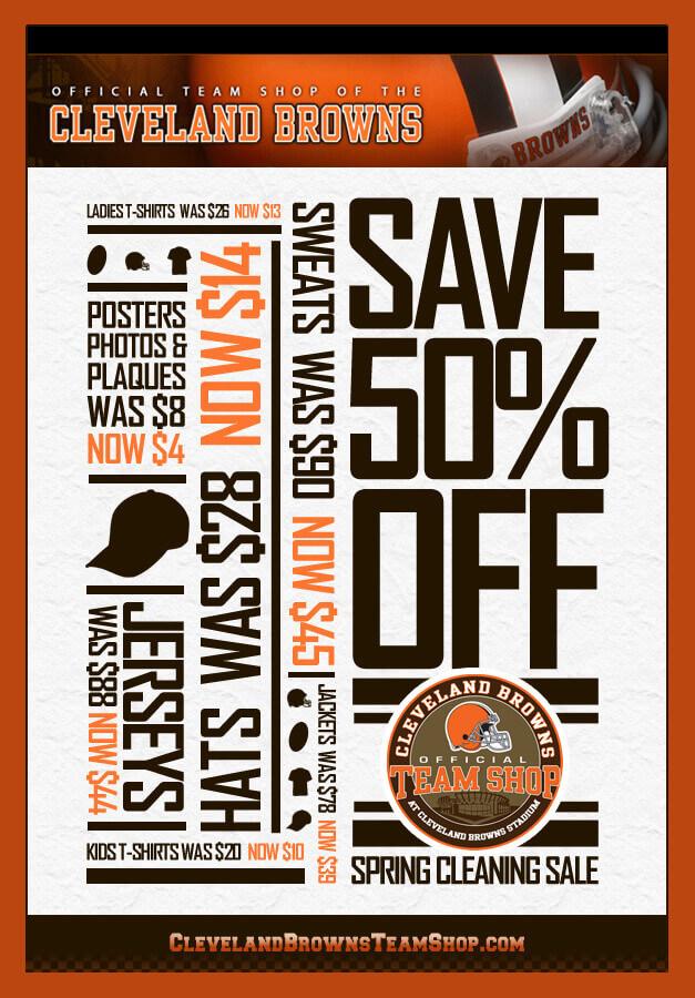 on sale 84bc8 0421d Cleveland Browns Team Shop Flyer   IGV