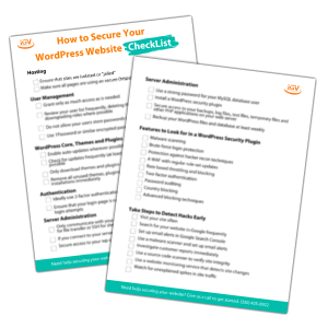 How to Secure Your WordPress Website Checklist Image