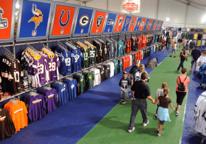 The Inside of an Official NFL Team Store