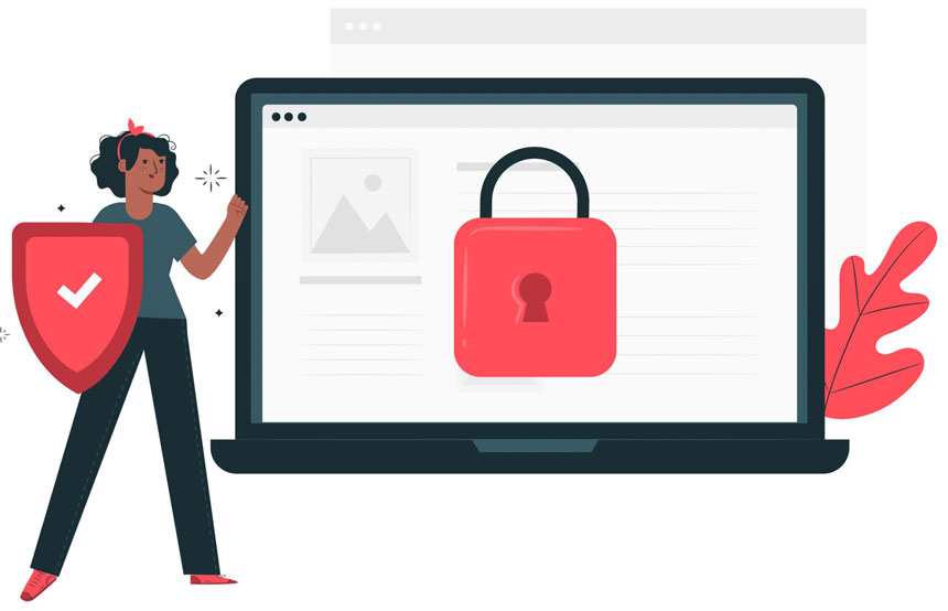 Protecting your website vector image
