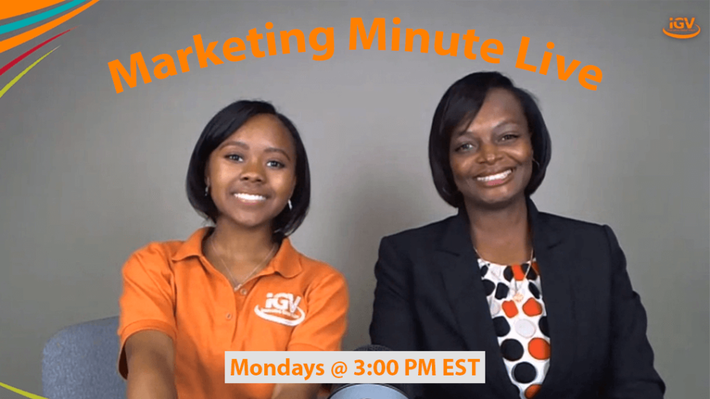 Marketing Minute Live Mondays @ 3 PM EST