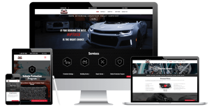Niptuck auto detailing new website displayed on multiple devices