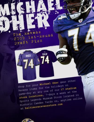 Baltimore Ravens Email Blast Poster