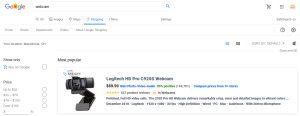 Google Shopping Product Listing Search