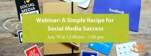 A Simple Recipe For Social Media Success banner
