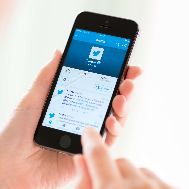Twitter Profile On Apple Iphone 5S