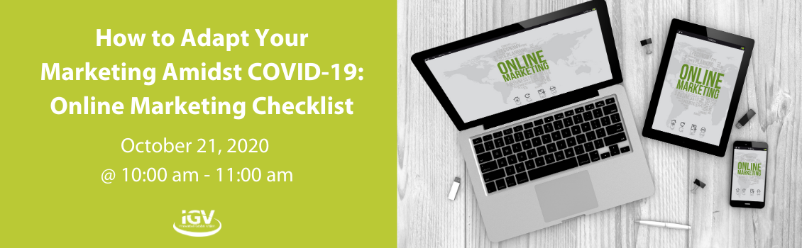 How to Adapt Your Marketing Amidst COVID-19: Online Marketing Checklist