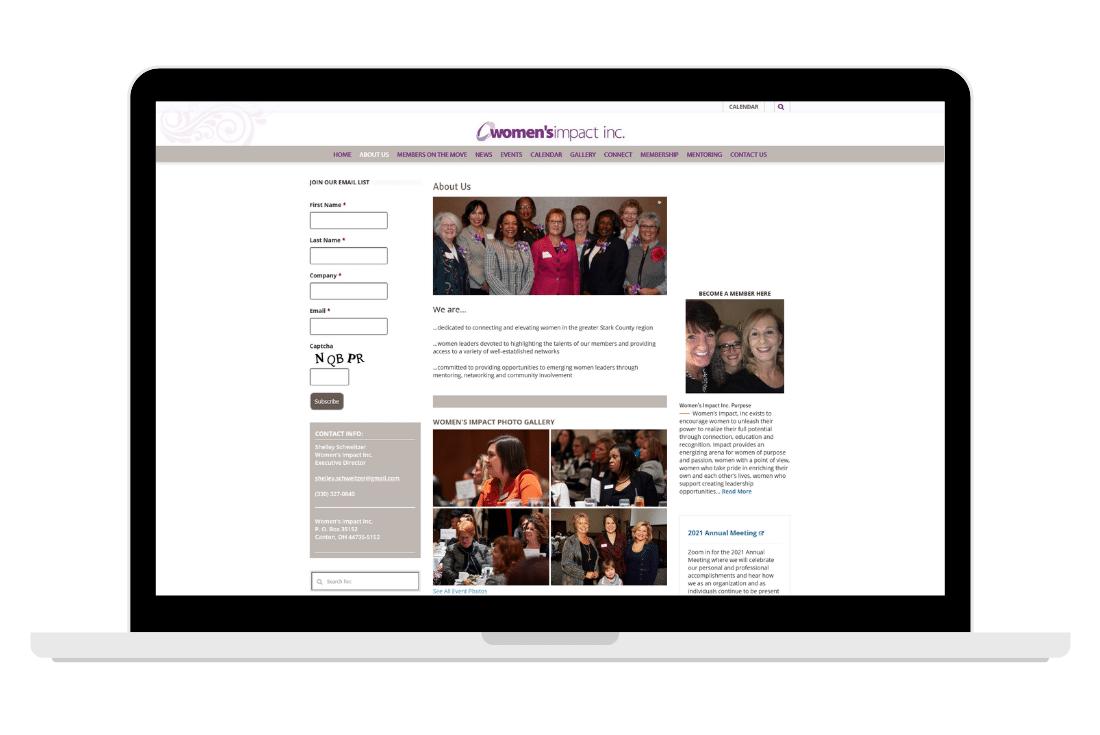 womens impact previous website