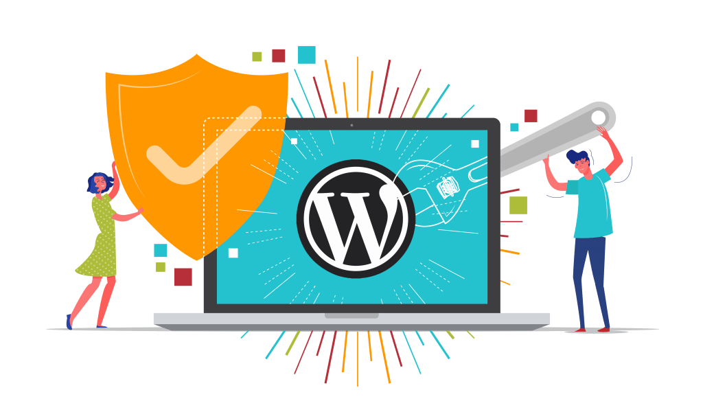 WordPress Security and Maintenance Vector Image